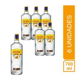 Pack 6 Botellas Ginebra Gordons 700Ml