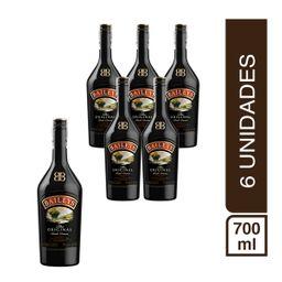Pack 6 Botellas Crema De Whisky Baileys 700Ml