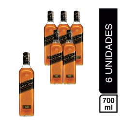 Pack 6 Botellas Johnnie Walker Black Label 12 A�os 700Ml