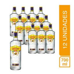 Pack 12 Botellas Ginebra Gordons 700Ml
