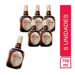 Pack 6 Botellas Old Parr 12 A�os 750Ml