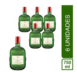 Pack 6 Botellas Buchanans Deluxe 12 A�os 750Ml