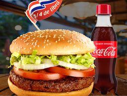 Hamburguesa 1/4 de Libra + Coca Cola