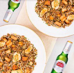 Combo Arroz Asiático para 2 + Cerveza Stella