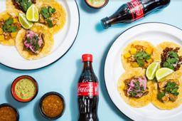 Caja de Tacos para 2 más 2 Coca-Cola 300 ml