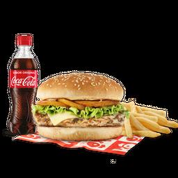Promo hamburguesa a la plancha en combo
