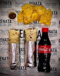 Combo 2 Burritos Dos Acompañantes