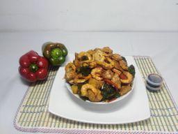 Medio Chop Suey Pollo Camaron