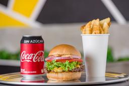 Combo Cheese burger con Cocacola Zero
