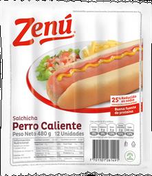 Salchicha Perro Caliente Zenu X 480G