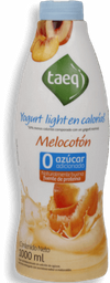 Yogurt Light Sabor Melocoton Garrafa Taeq