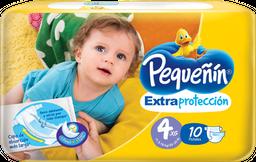 Pañales Pequeñín Extraprotección Etapa 4 X 10 Und