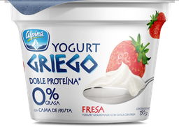 Yogurt Griego Fresa Alpina