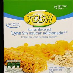 Barra de Cereal Lyne Sin Azúcar Tosh