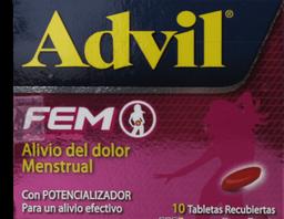 Advil Fem 400 / 85 mg Caja Con 10 Tabletas