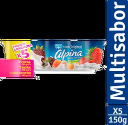 Yogurt Original Alpina X 5 Vaso X 150G C/U