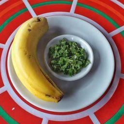 Banano con Cilantro
