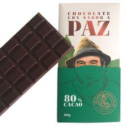 Barra de Chocolate 80 % 80 Gr