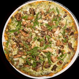 Pizza Pesto con Hongos