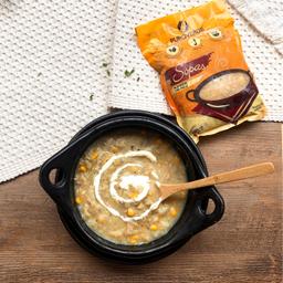 Sopa congelada de ajiaco tradicional con pollo