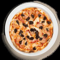 Pizza Tocineta y Ciruelas