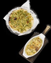 Espinaca  queso ricotta y mozzarella