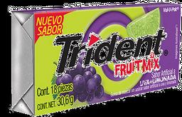 Trident Goma de Mascar Uva Limón Fruit Mix