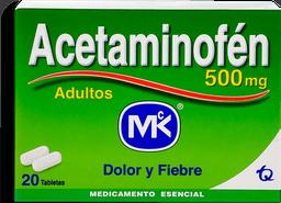 Acetaminofen Mk 500