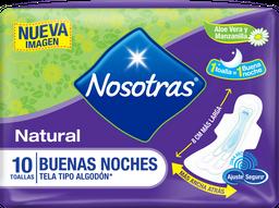 Toallas Higiénicas Nosotras Natural Buenas Noches Tela X 10und