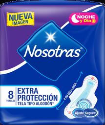 Toallas Higiénicas Nosotras Extraprotección Tela x 8und