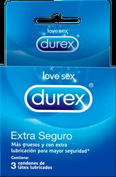 Condones Durex Extra Seguro X 3u