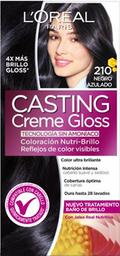 Tinte LOréal Paris Casting Creme Gloss Negro Azulado 210