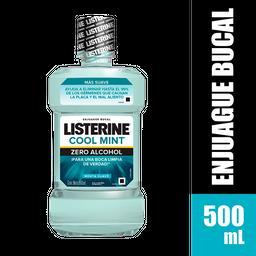 Enjuague Bucal Listerine Zero Menta Suave x 500 ml