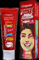 Crema Dental Colgate Luminous White Caja Con Tubo Con 75 mL