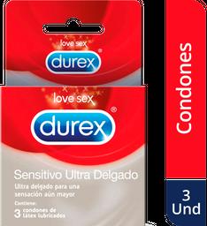 Condón Durex Sensitivo Ultra Delgado x 3 unds