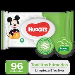 Toallitas Húmedas Huggies Limpieza Efectiva, 96Uds