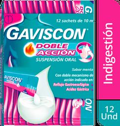 Gaviscon Sachet Doble Acción 12 unidades x 10mL Indigestión