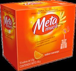 Metamucil Fibra Natural Sabor Naranja 10 Unidades