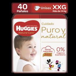 Pañales Huggies Natural Care Etapa 5/XXG, 40Ud
