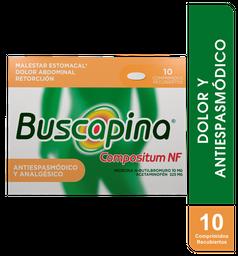 Buscapina Compuesta 10+325Mg Caja X 10. Dolor Y Antiespasmódico