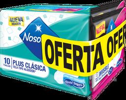 Toallas Higiénicas Nosotras Plus Clasic Telax10U+ToallasDoblex2U