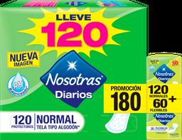 Protectores Nosotras Normalx120un+Protectores Flexiblesx60un