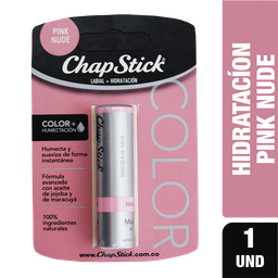 Protector Labial Chapstick Colors Hello Pink Nude X 1Und