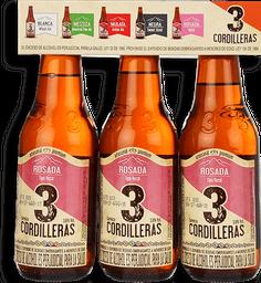 Cerveza Rosada Tri Pack 3 Cordilleras