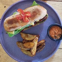 Sandwich Jamón y Pepeperoni