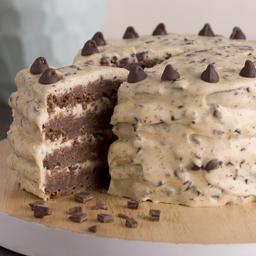 Torta Brownie con Cookie Dough