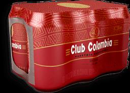 Cerveza Roja Lata Club Colombia 6UN