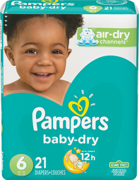 Pampers Pañales Baby-dry Talla 6