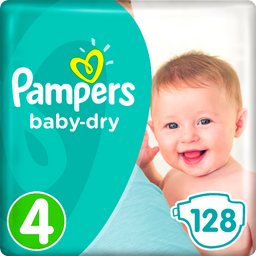 Pampers Baby Dry Sz4 GP 128ct