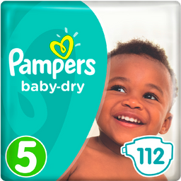 Pañales Pampers Baby Dry Talla 5 - 112u